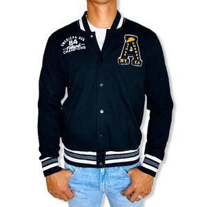 American Rag Men's Cotton Varsity Letterman Jacket